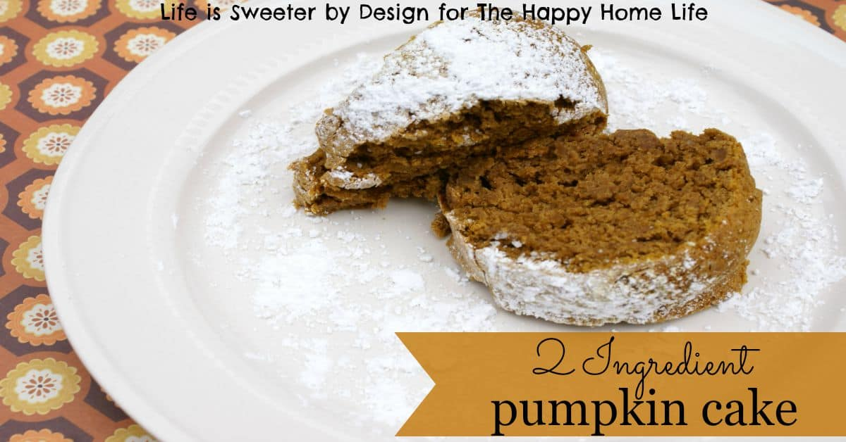 Simple 2 Ingredient Pumpkin Cake Plated