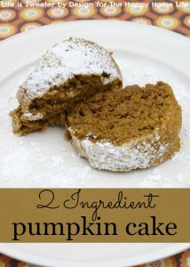 2 Ingredient Pumpkin Cake