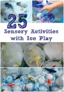 25 Sensory Activities with Ice Play
