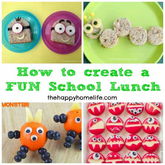 One of the best tricks to get your kids to eat their food is to make it FUN! Learn How to Create a FUN School Lunch with these 20 recipes to fun lunches.