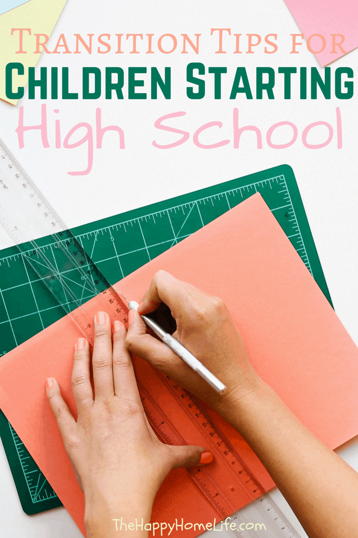 Have a child starting high school this year? These Transition Tips for Children Starting High School will help you and your child during this first days of school.