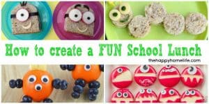 How To Create A FUN School Lunch - 20 fun recipes to make your kids want to eat their school lunches.
