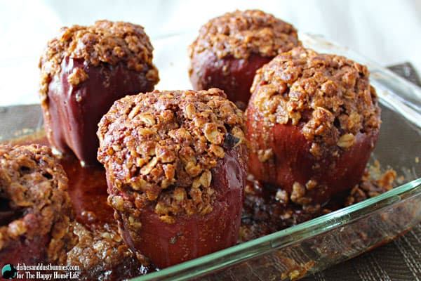 Apple Crumble Stuffed Baked Apples