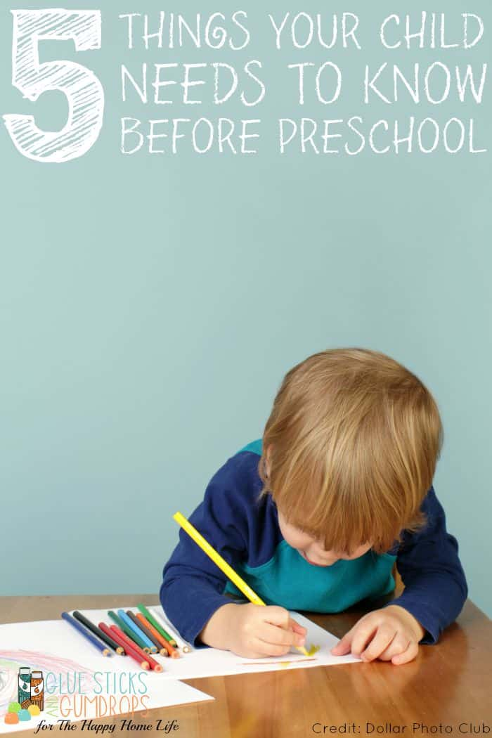 5 Things Your Child Needs to Know Before Preschool