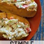 Simple Seafood Salad Sandwich -- DELICIOUS!