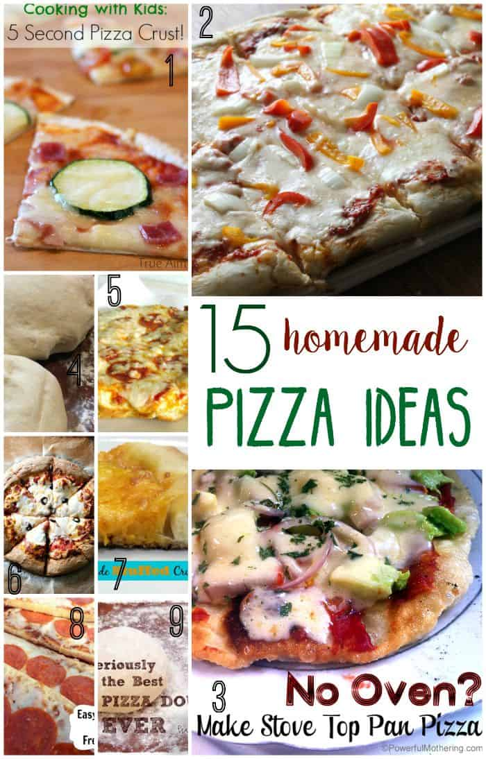 In need of a fun family meal night idea? Try one of these homemade pizza ideas.