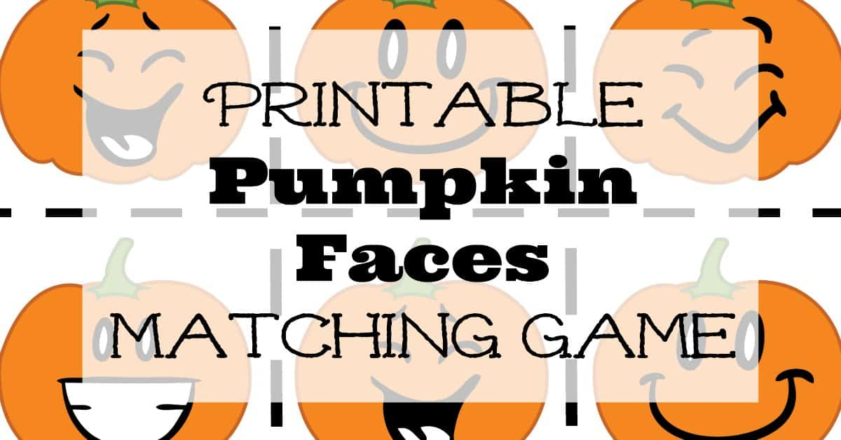graphic relating to Printable Pumpkin Face named Printable Pumpkin Faces Matching Video game The Satisfied Dwelling Lifestyle