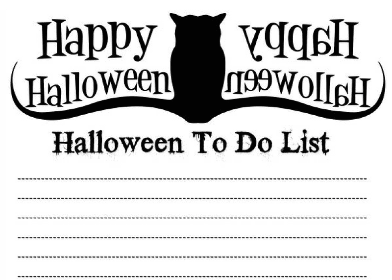 spooky halloween to do list free printable