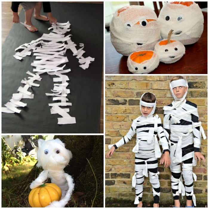 mummies kids crafts - Halloween Mummy Crafts