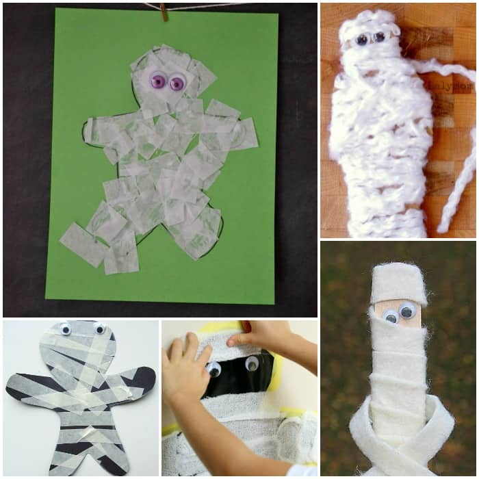 mummy halloween craft for kids - Halloween Mummy Crafts