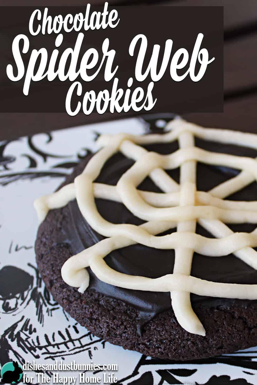 Chocolate Spider Web Cookies