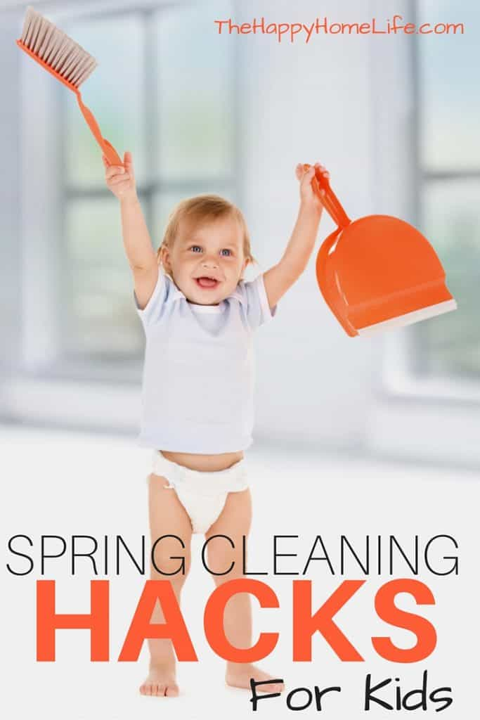 Spring Cleaning Hacks for Kids - Spring cleaning doesn't have to be dull or a job for kids. These spring cleaning hacks for kids will make the job fun and create fun for the entire family.