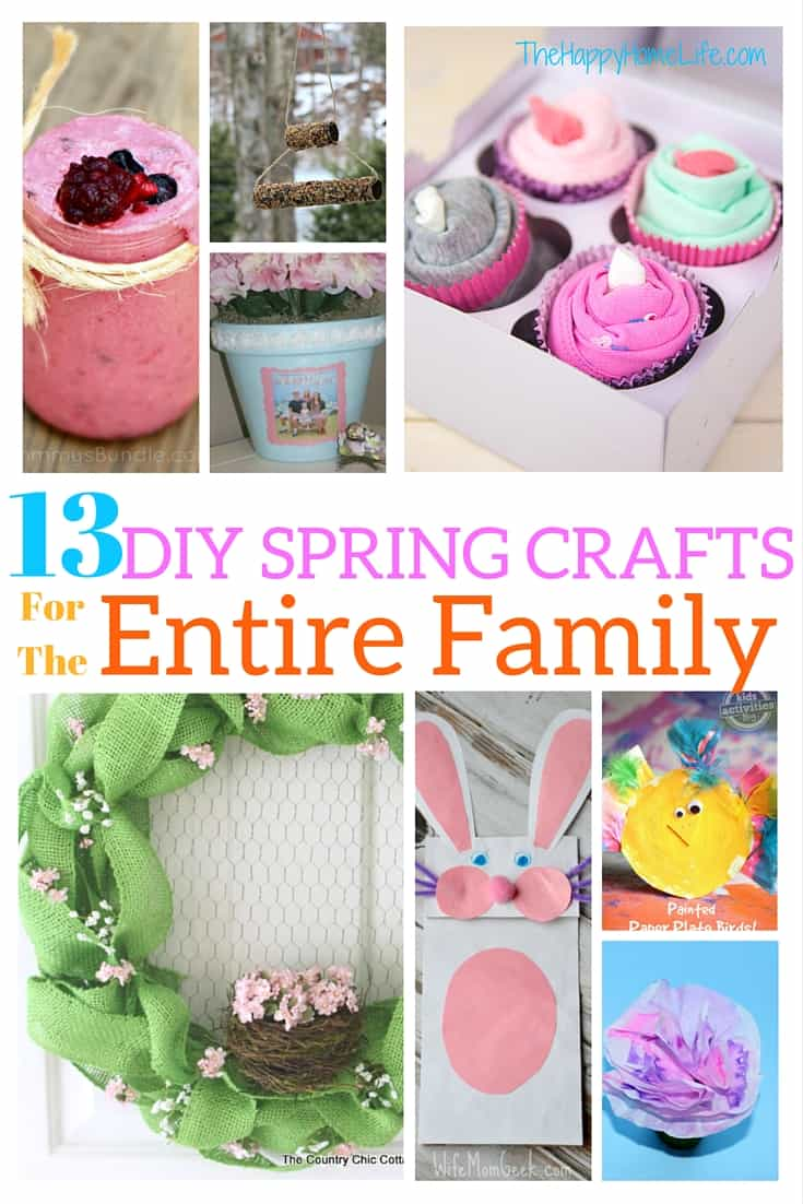 13 Diy Spring Crafts For The Entire Family The Happy Home Life