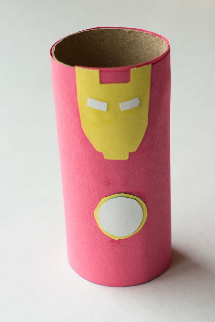 Iron Man Toilet Paper Tube Craft