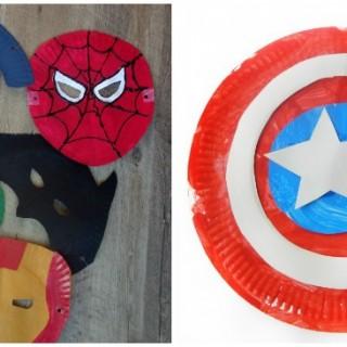 superhero paper plate crafts facebook image