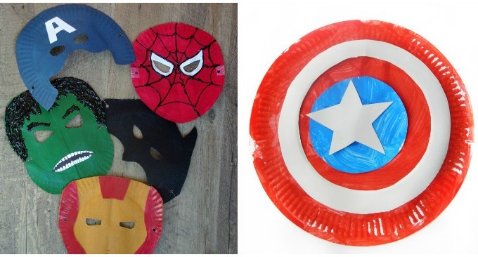 superhero paper plate crafts facebook image