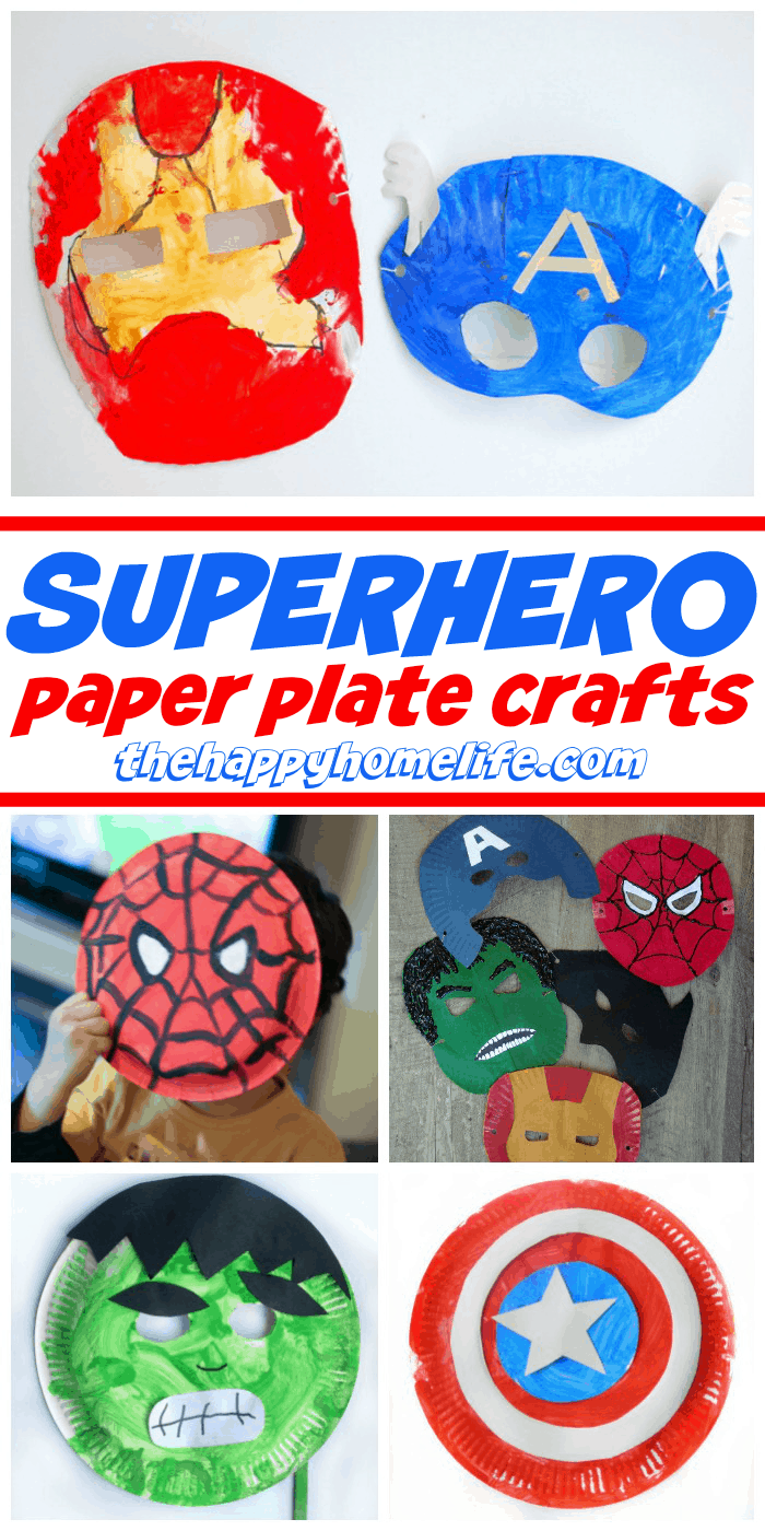 Superhero Paper Plate Crafts For Kids The Happy Home Life