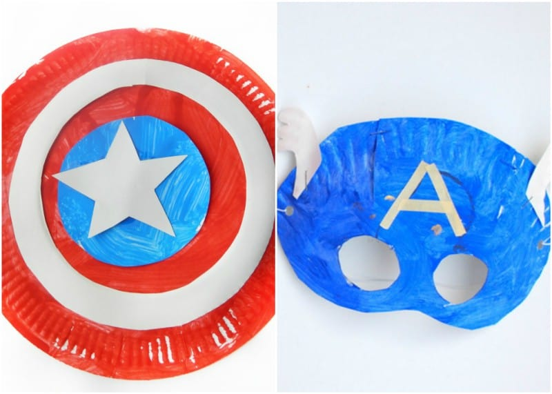 Superhero Paper Plate Crafts for Kids