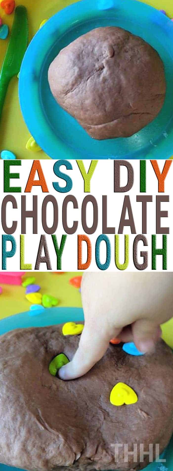 Learn how to create homemade easy DIY chocolate play dough today. So easy to make only five ingredients and the best part you don't have to cook anything! The ingredients you already have in your home.