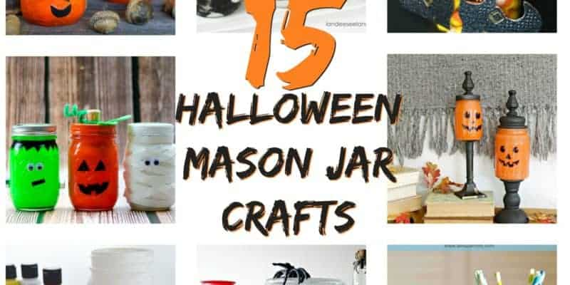 15 DIY Halloween Mason Jar Crafts