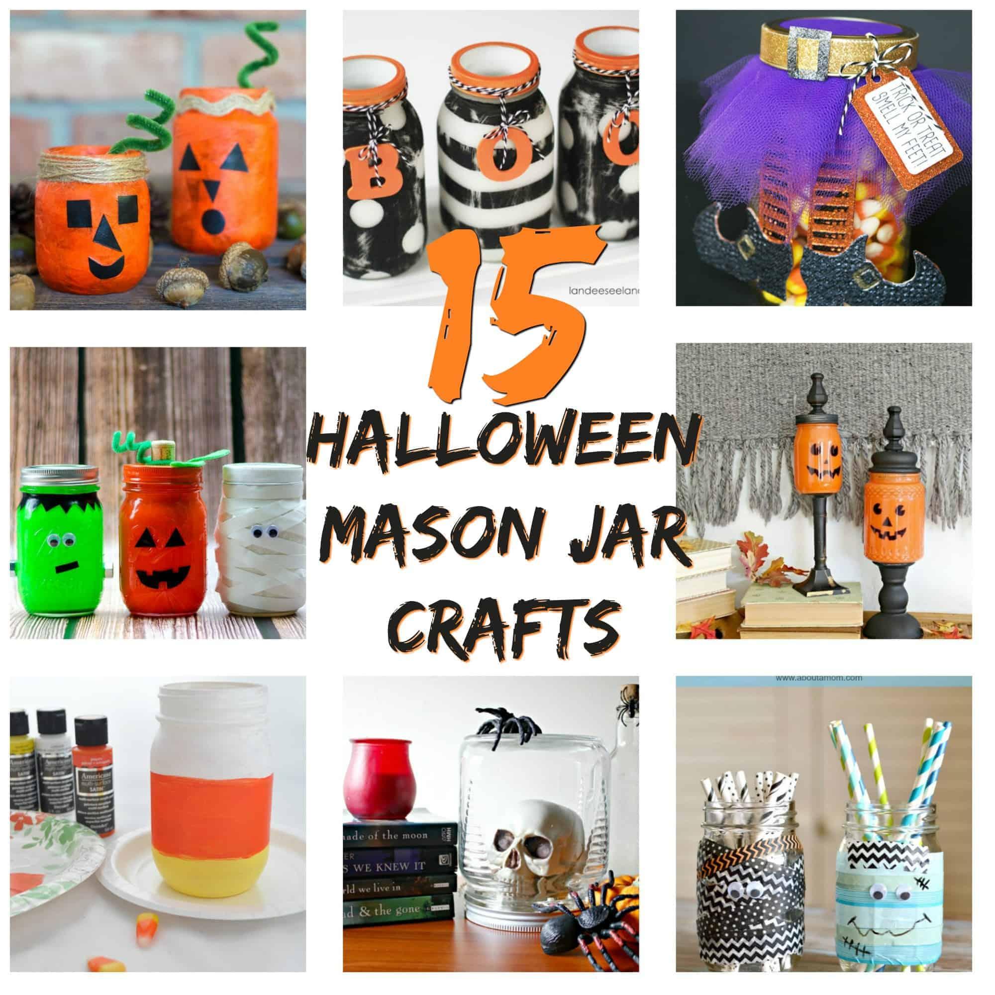 15 Diy Halloween Mason Jar Crafts The Happy Home Life