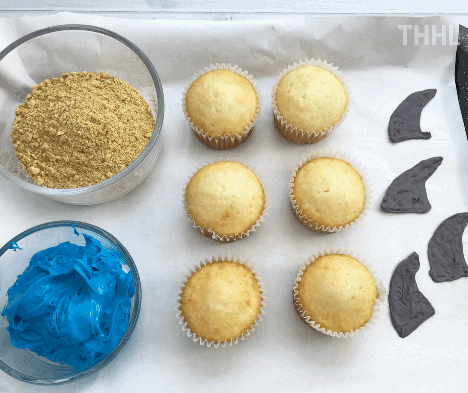 how to make shark cupcakes using store bought cake mix
