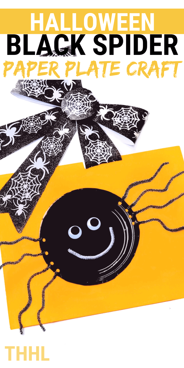 Learn how to make a fun Halloween Spider Paper Plate Craft your kids are going to love. Perfect craft for preschoolers or kiddos Halloween gathering.