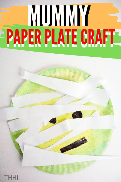 Download the free mummy face PDF and create this mummy paper plate craft with your preschooler. Follow instructions to create this Halloween paper craft.