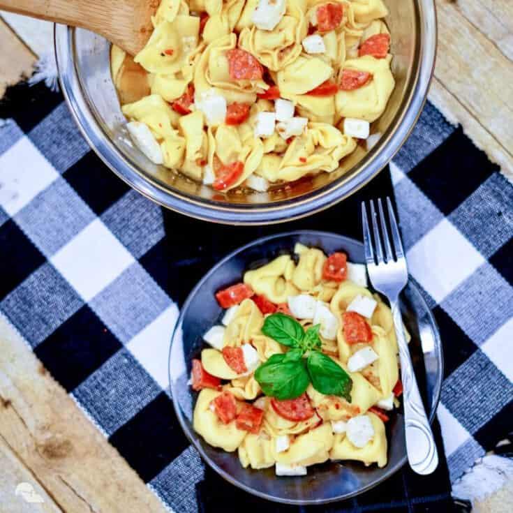 tortellini pasta salad italian dressing