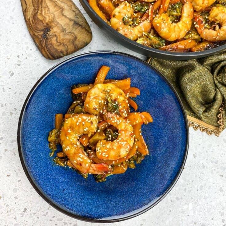 Honey Garlic Shrimp and Broccoli Stir Fry