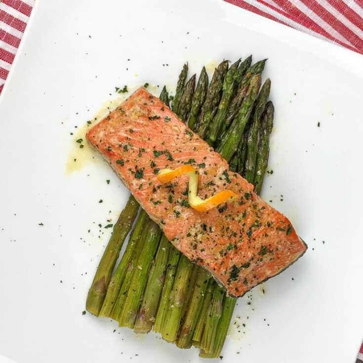 Honey Orange Glazed Salmon with Asparagus