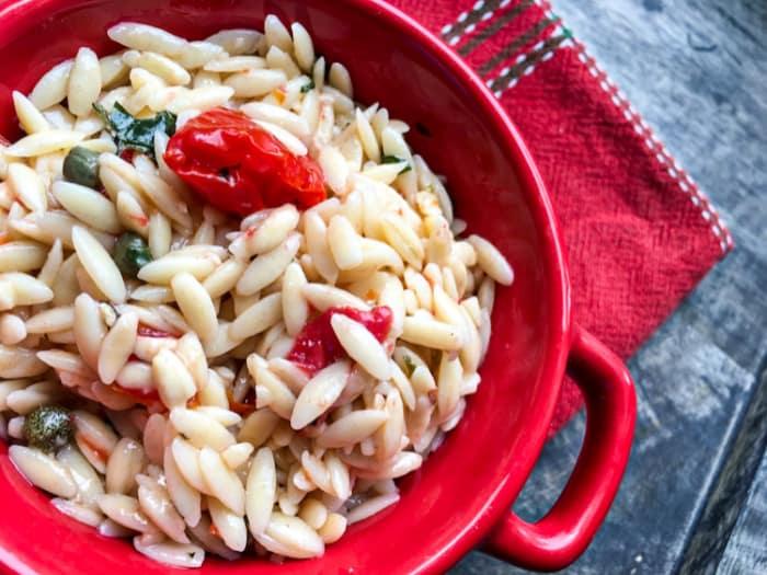 Vegan Orzo Pasta Salad
